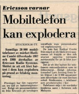 Exploderande mobiler
